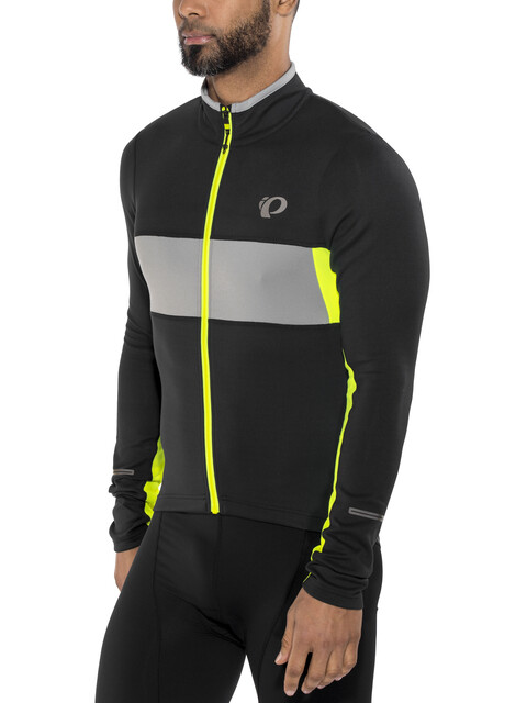 PEARL iZUMi ELITE Escape Thermal LS Jersey Men Black/Screaming Yellow